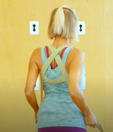 Cindy shows how to make a yoga backpack.